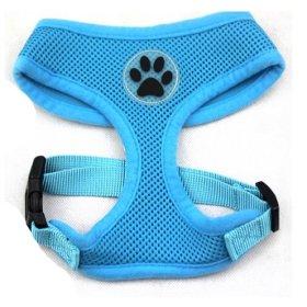 BINGPET BB5001 Soft Mesh Dog Puppy Pet Harness Adjustable – Blue