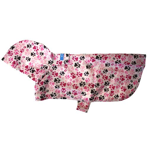 RC Pet Products Packable Dog Rain Poncho, Pitter Patter Pink, XX-Large