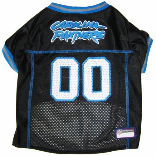 Pets First NFL Carolina Panthers Pet Jersey, Small