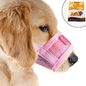 Alfie Pet by Petoga Couture – Matti Adjustable Quick Fit Nylon Mesh Muzzle – Color: Pink, Size: Medium