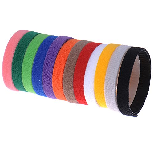 Yunt 12PCs/Pack Adjustable Resusable Soft Whelping Velcro Puppy Kitten ID Bands Collars,Puppy & Kitten Identification Collars