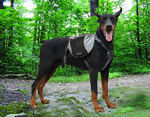 Funkeen Approach Dog Travel Pack Hound Camping Backpack Hiking Saddle Bag Rusksack with Reflective Stripe for Medium & Large dogs