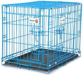 Aspen Pet Puppy 2-Door Training Retreat Crate, 24″, Blue