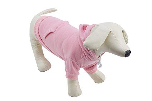 Pet Pink M Dog Fleece Coat Sweater Jumpsuit Puppy Cat Hoodie Sweatshirt Clothes Apparel