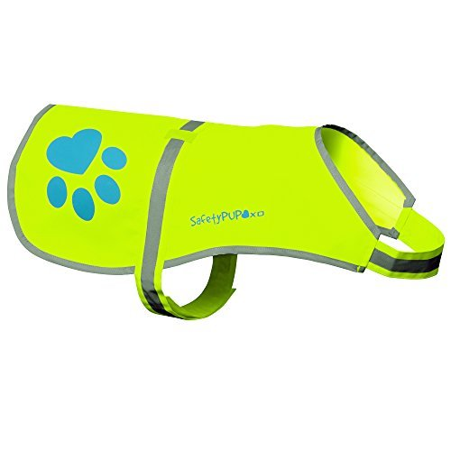 Dog Reflective Vest, Sizes to Fit Dogs 14 lbs to 130 lbs – SafetyPUP XD Hi Vis, Safety Vest Keeps Dogs Visible On and Off Leash in Both Urban and Rural Environments. (Neon Yellow, Medium) Medium Fits Dogs 35lbs – 60lbs