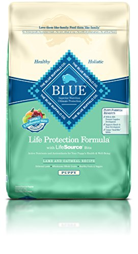 Blue Buffalo Dry Food for Puppies, Lamb & Oatmeal Recipe, 30-Pound Bag