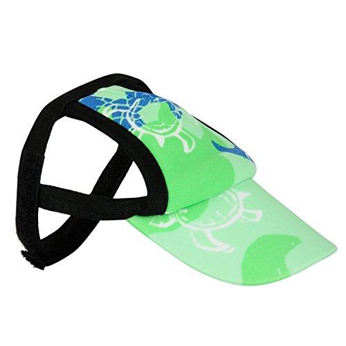 PlayaPup Sun Protective Dog Visor, X-Small, Emerald