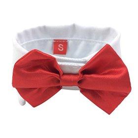 PanDaDa Puppy Pet Dog Cat Kitten Toy Bow Tie Necktie Collar Red XS