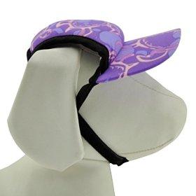 PlayaPup Sun Protective Dog Visor, Tuga Purple, XX-Small