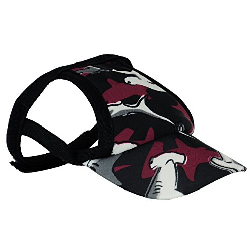 PlayaPup Sun Protective Dog Visor, Large, Reef Red