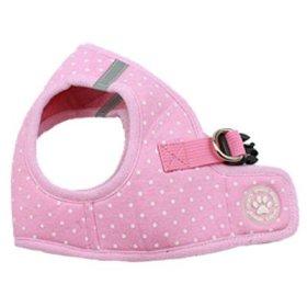 BINGPET BB5004 Polka Dot Soft Vest Dog Puppy Pet Harness Adjustable – Pink