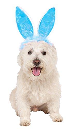 Rubies Costume Company 580336_M-L Crinkle Blue Bunny Ears Pet Headband, Medium/Large