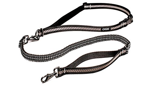 Stunt Puppy Go Dog Glo Runner Hands-Free Leash, Black