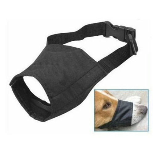 Adjustable Nylong Dog Puppy Safety Muzzle Stop Biting Barking Nipping Chewing