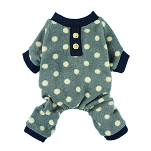 Fitwarm® Adorable Polka Dots Fleece Dog Pajamas Pet Coats Soft Pjs Apparel, Large