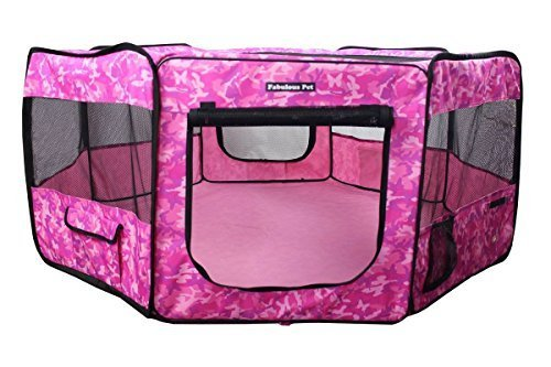 Fabulous Pet Water Resistant Portable Doggie, Dog, Puppy, Cat, Kitten Play Pen, Small Size