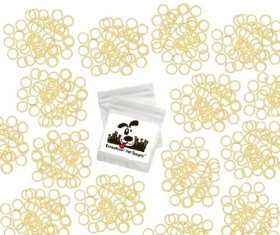 100 Pack Orthodontic Elastics 1/4″ (6.4mm), Rubber Bands Great for Dog Grooming Top Knots, Bows, Braids, Tooth gaps, and Dreadlocks