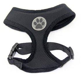 BINGPET BB5001 Soft Mesh Dog Puppy Pet Harness Adjustable – Black