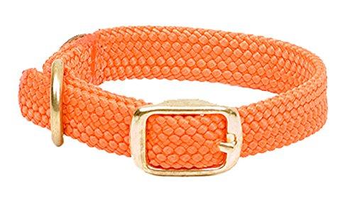 Mendota Products Double Braid Dog Collar, Orange, 9/16 x 12-Inch
