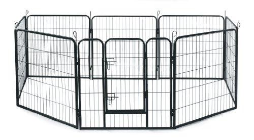 Allmax Metal Pet Fence, Black