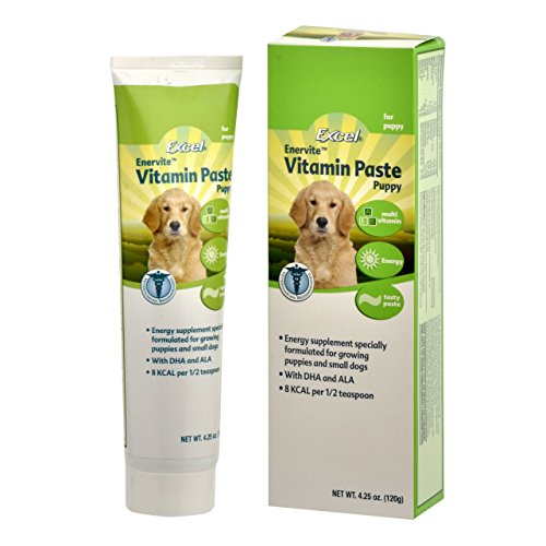 Excel Enervite Daily Supplement Vitamin Paste for Puppies, 4.25-Ounce