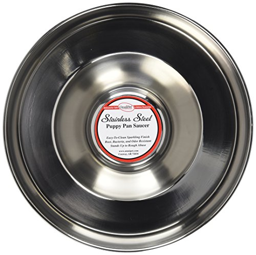 OmniPet Stainless Steel Puppy Feeding Saucer
