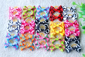 40pcs/20pairs Cute New Dog Hair Bows Rubber Bands Curve Styles Top Quality Dog Topknot Dog Bows Pet Grooming Products Mix Colors Pet Hair Bows Topknot