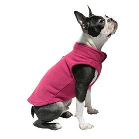 Gooby Every Day Fleece Cold Weather Dog Vest for Small Dogs, Fuchsia, X-Large