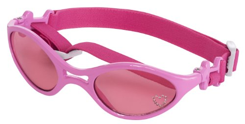 Doggles K9 Optix Shiny Pink Rubber Frame with Pink Lens Sunglasses, Medium