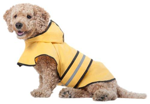 Fashion Pet Rainy Days Slicker Yellow Raincoat, Medium
