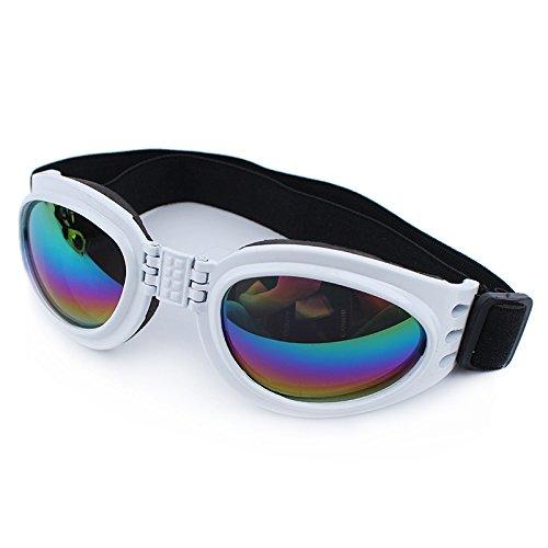 QPet Pet Sunglasses Dog Sunglasses Goggle UV Sunglasses Eye Wear Protection Waterproof (White)