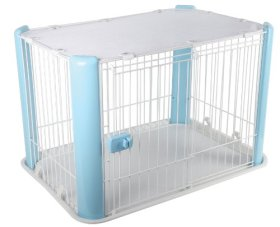 IRIS Dog Play Pen with Mesh Roof, Blue