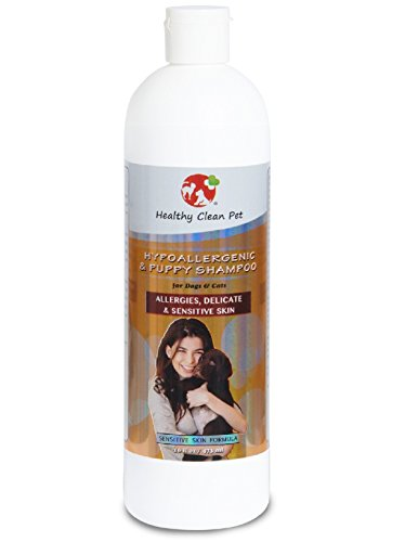 Hypoallergenic Puppy Dog Shampoo – 100% Natural Hypoallergenic & Puppy Pet Shampoo for Puppies, Dogs & Cats With Allergies, Delicate, Sensitive Skin, 16 oz -by Healthy Clean Pet