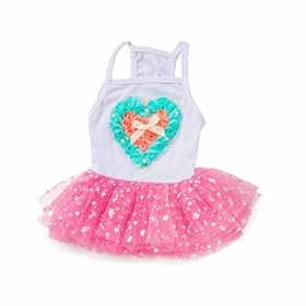 Binmer(TM)Fashion Dog Clothes Lovely Puppy Dog Princess Dress Dog Camisole Gauze Skirt Pet Dog Stars Tutu Dresses (S, Pink)