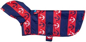 RC Pet Products Packable Dog Rain Poncho, Nautical, XX-Large