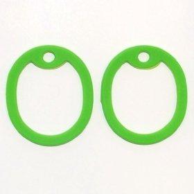2 Lime Green Dog Tag Silencers – Military GI Silencer – Tag-Z Dog Tag Silencers – FREE SHIPPING!