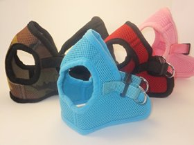 Soft Mesh Comfy Step in Dog Vest Harness for Teacups, Toys, Minis, Puppies, Small Dog Breeds 2-16 lbs., Baby Pink, Sky Blue, Black, Red, Camo, X-small, Small, Medium, Large, X-large (Sky Blue, x-small)