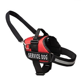 Service Dog Vest Harness with Snap-On Bridge Handle by Industrial Puppy (Sizes: M/L/XL | Service Dog Patch | 2 Colors) – Service Dog In-Training Vest – Adjustable Nylon Straps – Durable Material
