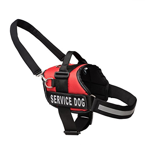 Service Dog Vest Harness with Snap-On Bridge Handle by Industrial Puppy (Sizes: M/L/XL   Service Dog Patch   2 Colors) – Service Dog In-Training Vest – Adjustable Nylon Straps – Durable Material