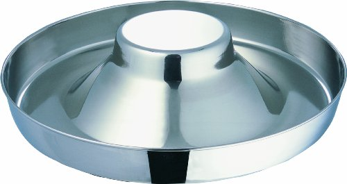 Indipets Extra Heavy Stainless Steel Puppy Saucer with Raised Center 11-Inch Diameter