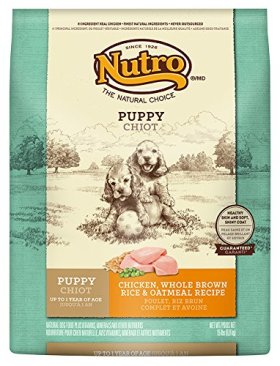 The Nutro Company Puppy Wholesome Essentials Dog Food with Chicken, Whole Brown Rice and Oatmeal Formula, 15-Pound