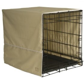 Pet Dreams 42 by 28-Inch Classic Crate Cover, X-Large, Khaki