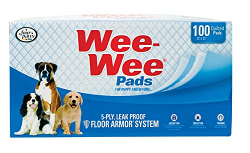 Four Paws Wee-Wee Puppy Housebreaking Pads, 100-Pack Box