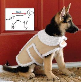 Shearling Fleece Dog Winter Coat Small