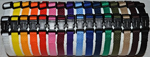 CollarSafe Soft Nylon Puppy ID SNAP Buckle Collars – Puppy Identification Litter Collars