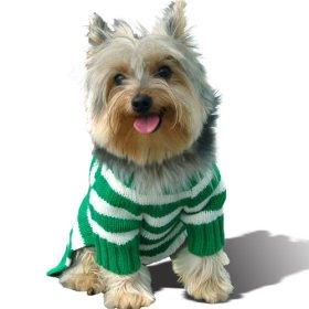 Stinky G Forest Green Stripe Dog Hoodie Sweater #14 – L