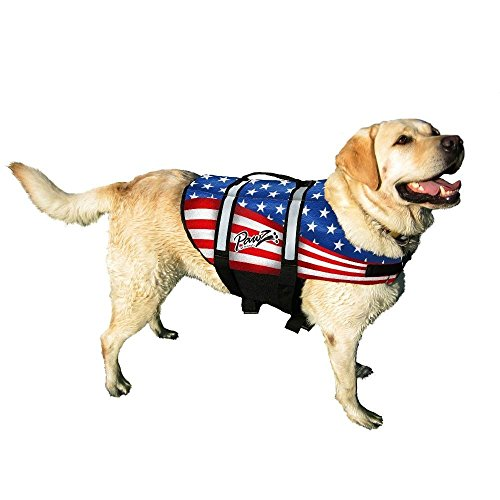 Pawz Pet Products Doggy Life Jacket, American Flag, Small