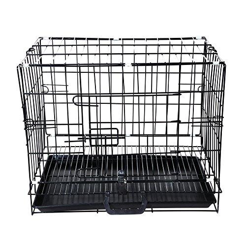 Aipet Single-door Folding Metal Dog Cat Crate (23.5-inch)
