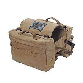 Lifeunion Portable Cotton Canvas Pet Dog Saddlebag Backpack ,Dog Tripper Hound Travel Hiking Camping Saddle Bag for Medium Large Dogs