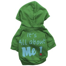 Ollypet Designer Small Dog Hoody Sweater Winter Fashion Cat Puppy Clothing Green